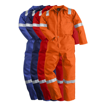 "Cotton Coveralls with 6P 2""Reflective strips"